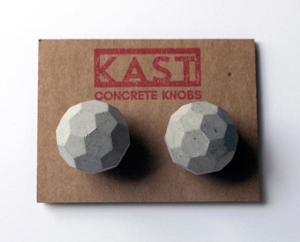 Industrial Chic: Kast Concrete Cabinet and Drawer Knobs in main interior design home furnishings Category