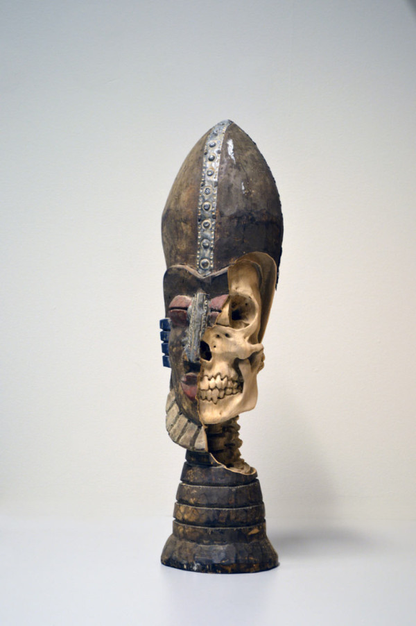 Shaman Anatomy, 2014.  (re-)carved South American shaman bust