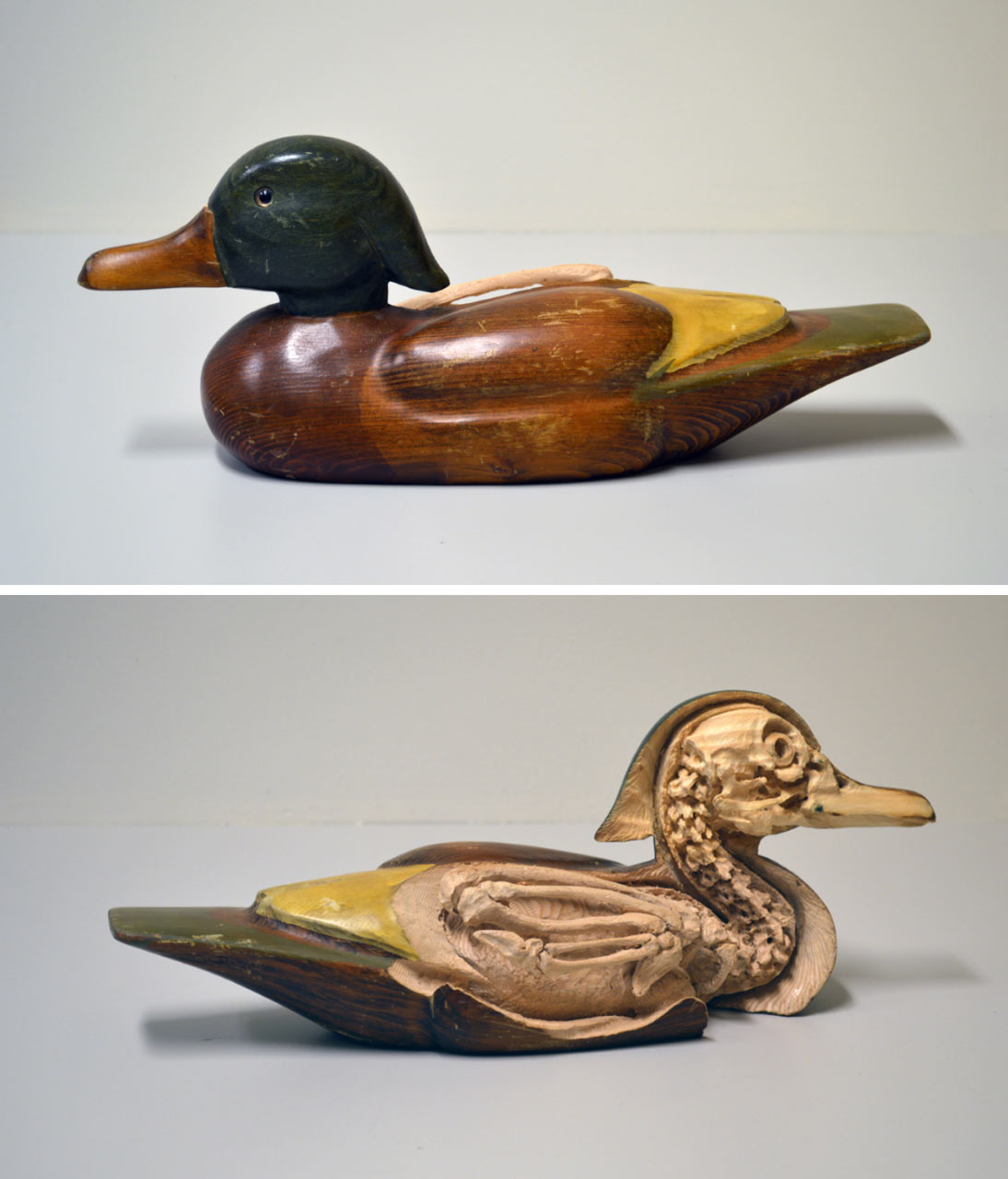 Decoy Study (Duck), 2014. (re-)carved duck decooy