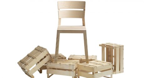 A Chair Inspired by Orange Crates