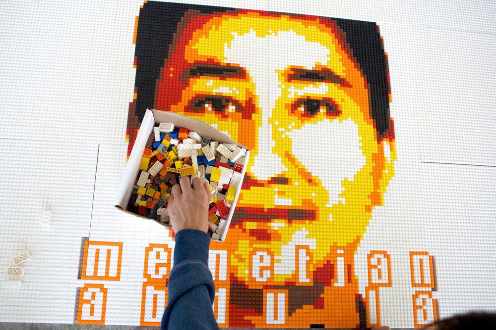 Ai Weiwei's LEGO Portraits Hit Alcatraz