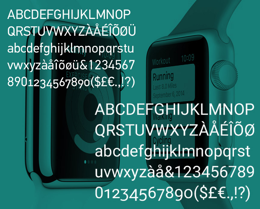 Apple Watch Sports Custom Typeface For Maximum Legibility