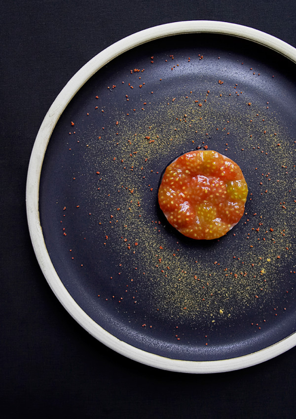 Langoustine and Tomatoes by chef Søren Selin