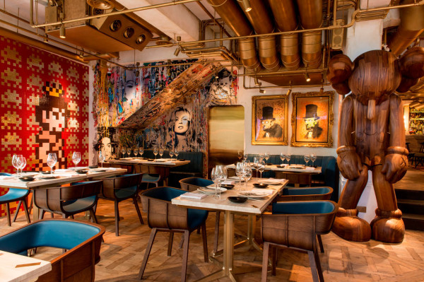 dining restaurant with a bohemian twist in main interior design