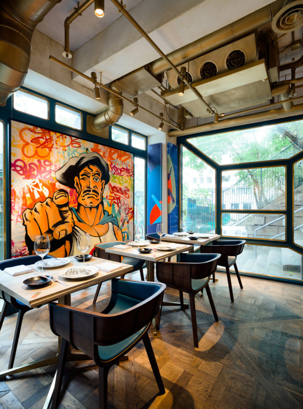 A French Fine Dining Restaurant with a Bohemian Twist Design Milk
