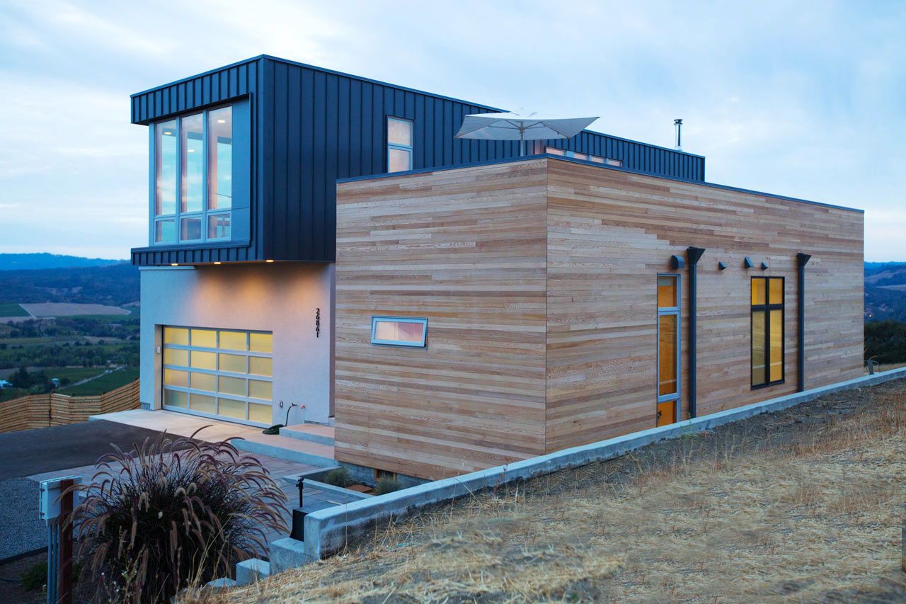 A Prefab/Modular Home In The Hills Of Sonoma County ...
