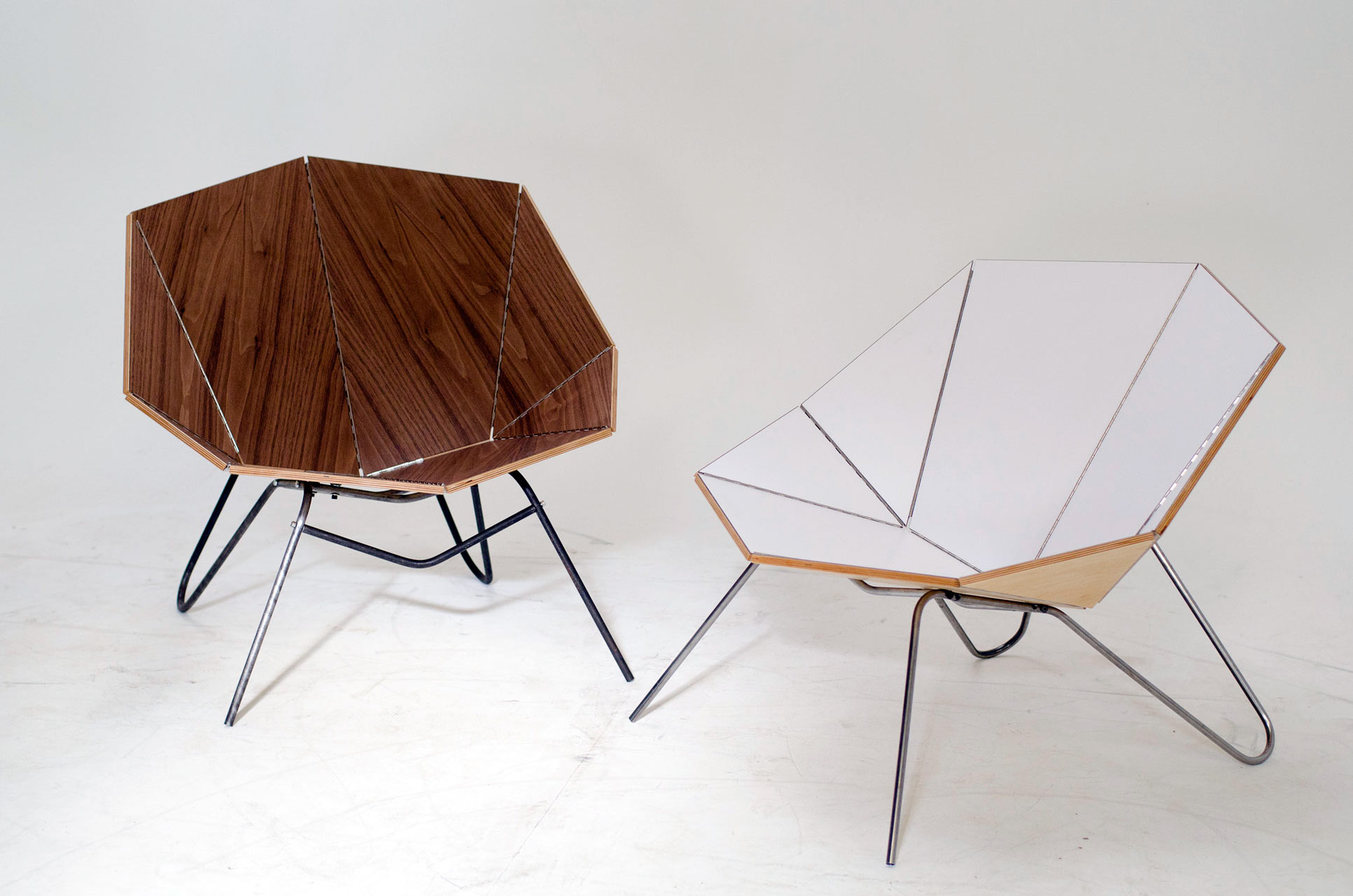 Cut amp Fold Modern Origami Like Furniture Design Milk