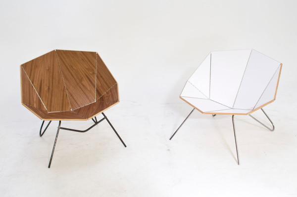 Cut Fold Modern Origami Like Furniture Design Milk