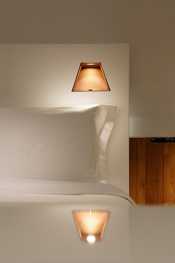"Hotel Room Lights: Minimalist Hotel Made Of Boxes ""Growing"" From The"