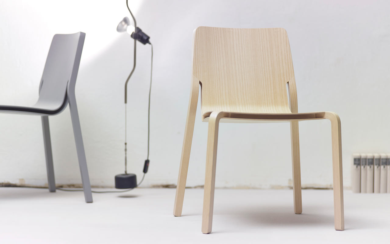 Lightweight stackable chairs - Layer A Stackable Plywood Chair By Oliver Schick Design