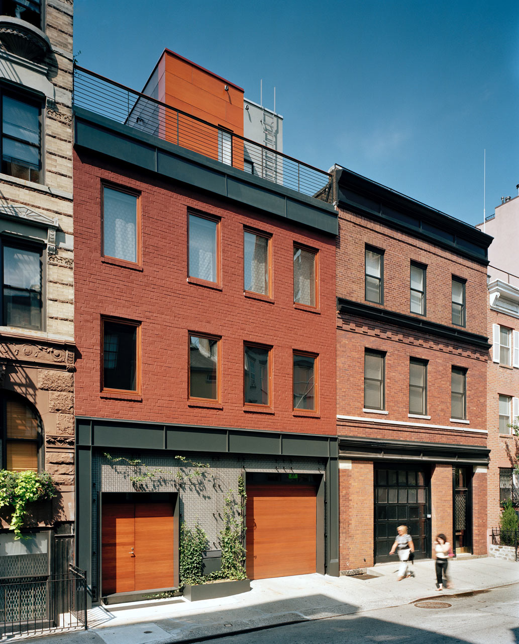 a parking garage becomes a nyc townhouse with drama