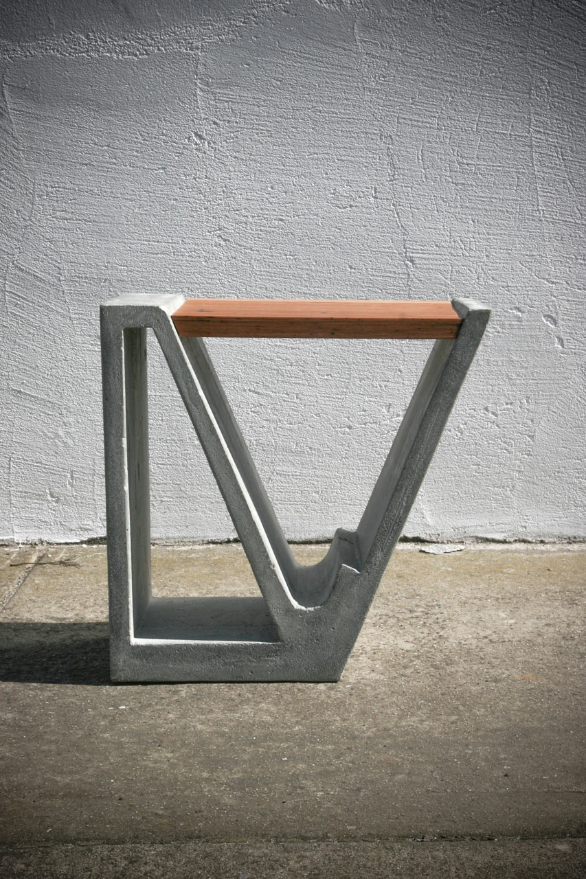 Furniture Design Wood a concrete and wood multipurpose piece of furniture - design milk