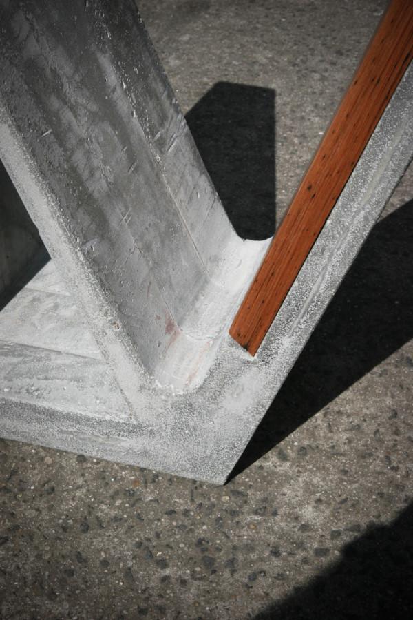 A Concrete and Wood Multipurpose Piece of Furniture  Design Milk