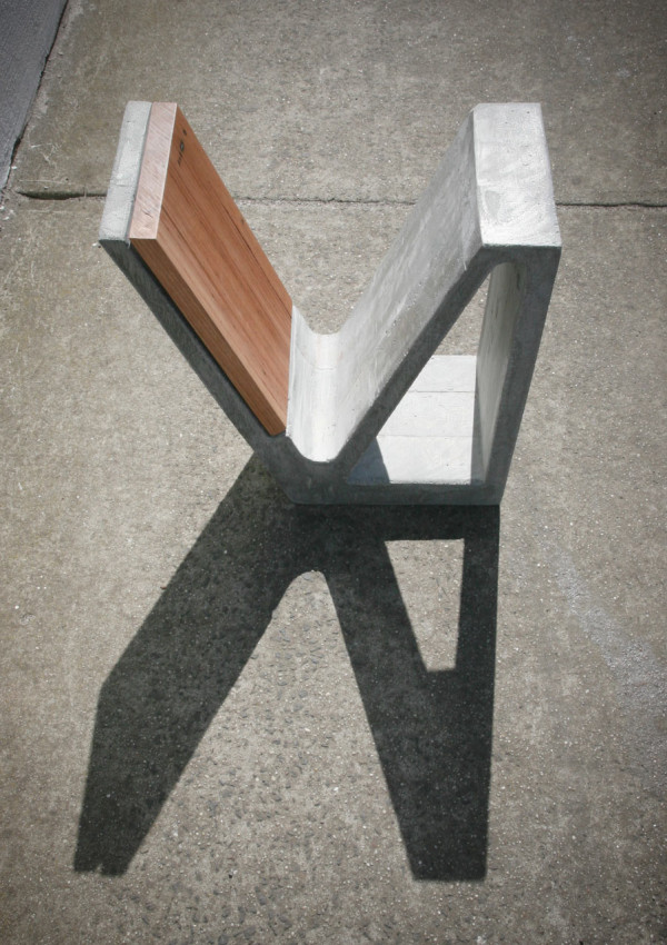 A concrete and wood multipurpose piece of furniture design milk Concrete and wood furniture