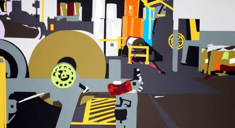 Factory Made: Abstract Scenes Made from Hand-Cut Paper