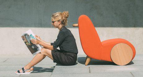 Rapide: A Lounge Chair Inspired by a Wheelbarrow