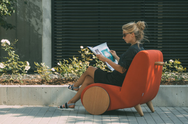 Rapide: A Lounge Chair Inspired by a Wheelbarrow in main home furnishings Category
