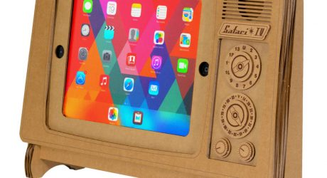 The Safari TV Cardboard iPad Stand