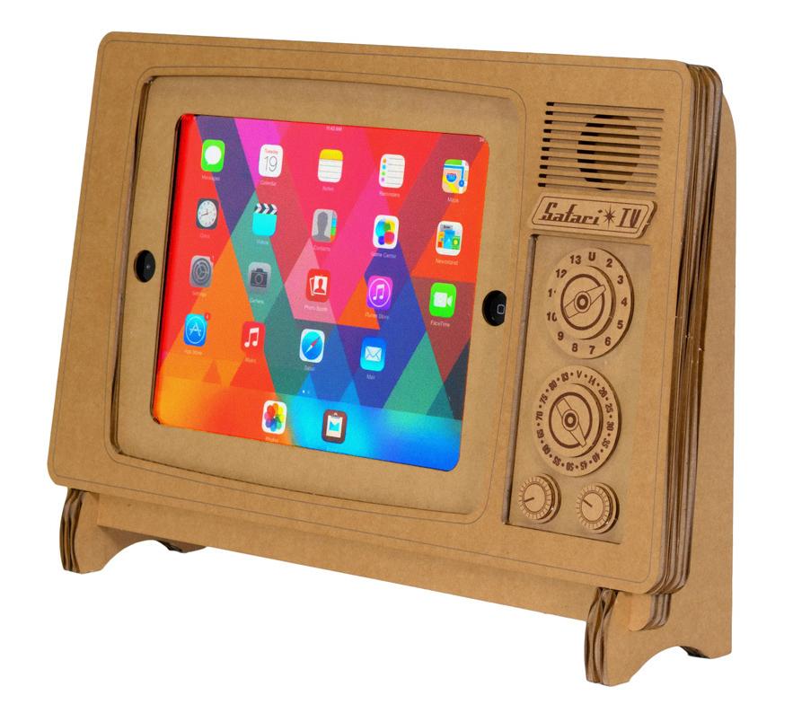 The Safari TV Cardboard iPad Stand