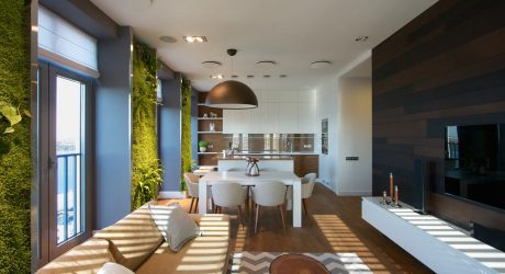 Ukrainian Apartment with Vertical Wall Gardens