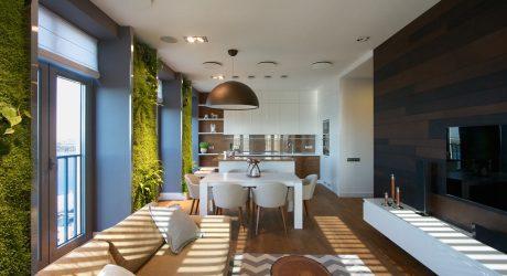 Ukrainian Apartment with Vertical Wall Gardens