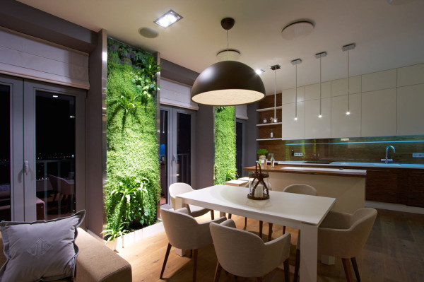 Ukrainian Apartment with Vertical Wall Gardens in main interior design architecture  Category