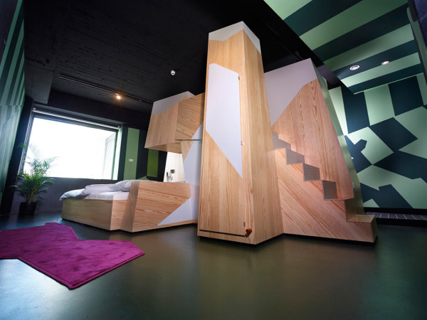 A OneofaKind Hotel Room at Volkshotel Amsterdam Design Milk