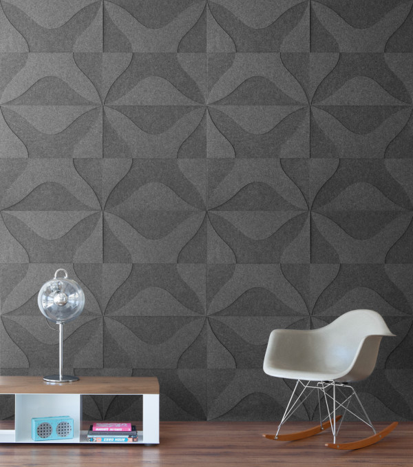 New Wool Felt and Cork Wall Coverings from Submaterial in main interior design home furnishings Category
