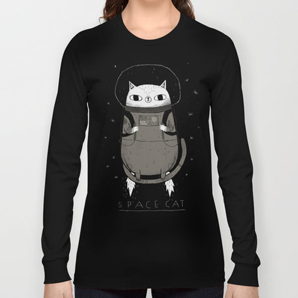 space-cat-long-sleeves-t-shirt