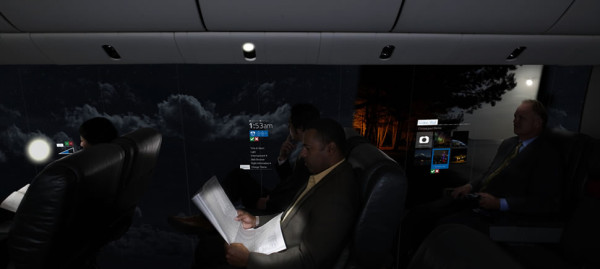 Future Airline Interior Cabins Might Become a 180° OLED Display in technology main Category