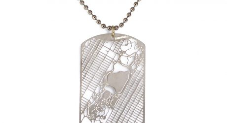 Urban Gridded Dog Tag Necklaces by AMINIMAL Studio