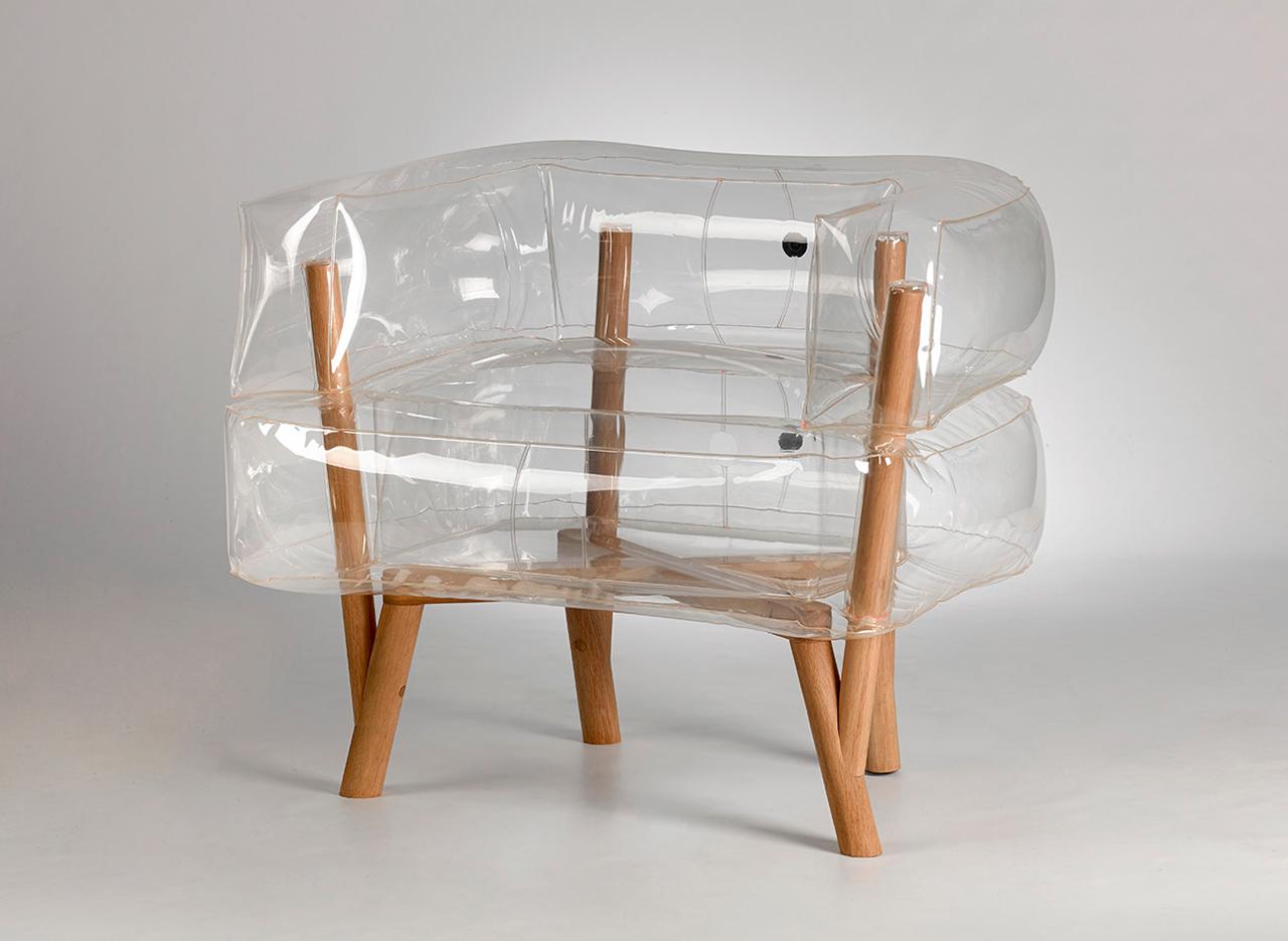 anda an inflatable chair by tehila guy design milk