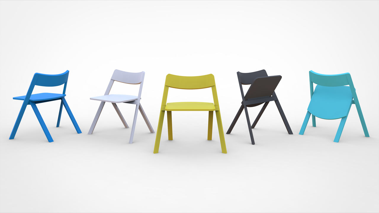 Curva: A Stackable Folding Chair by Cristian Reyes