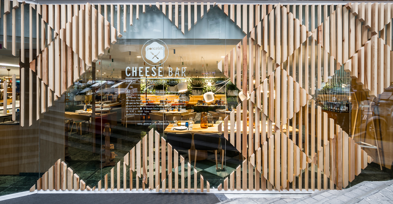 A modern cheese bar in barcelona by estudi h ac design milk for Bar jardin barcelona