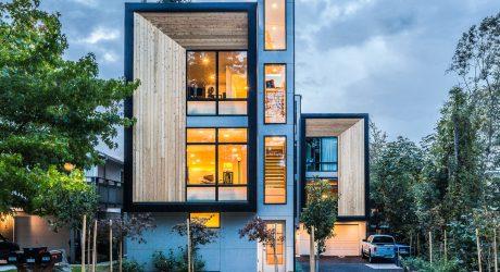Modern Prefab Townhomes in West Seattle