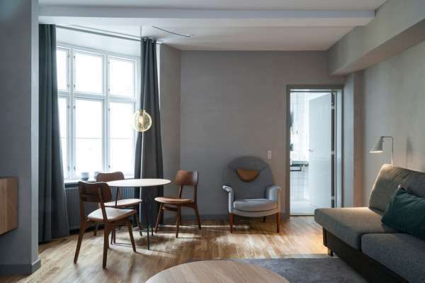 a boutique hotel in the latin quarter of copenhagen design milk. Black Bedroom Furniture Sets. Home Design Ideas