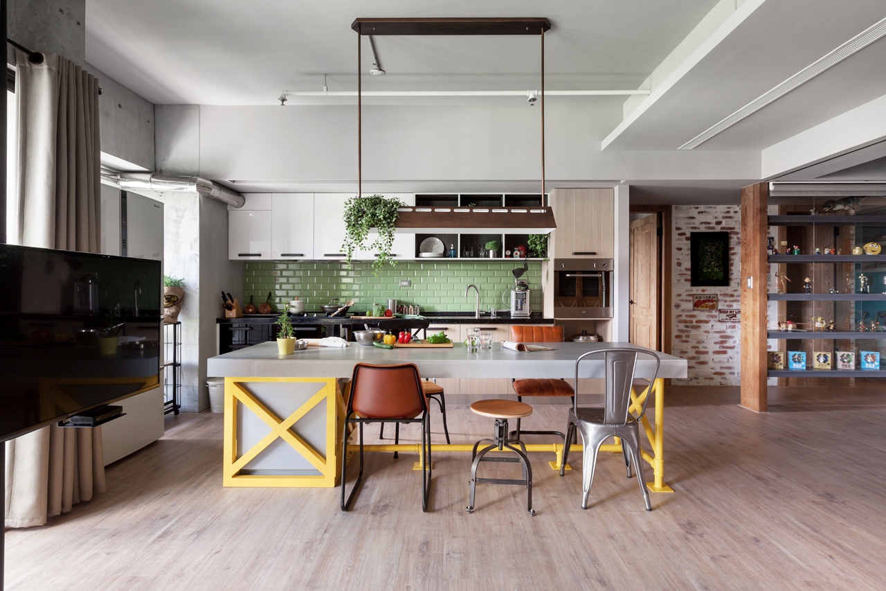 A taiwanese home where the kitchen takes the stage for Interieur moderne woning