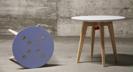Stool & Table That's Easy to Disassemble & Move