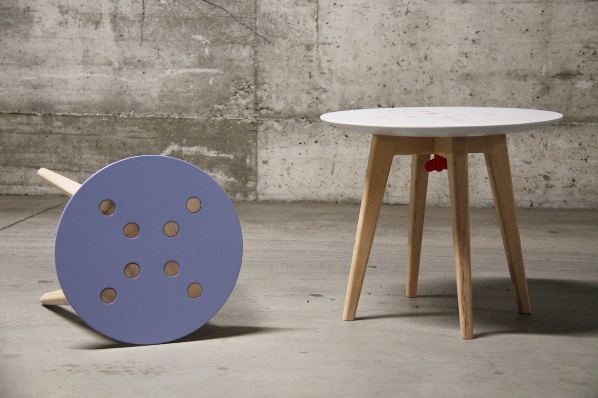 Stool table that 39 s easy to disassemble move design milk for Furniture that can be disassembled