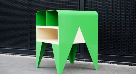 Frog: A Side Table with Storage by Nab Design
