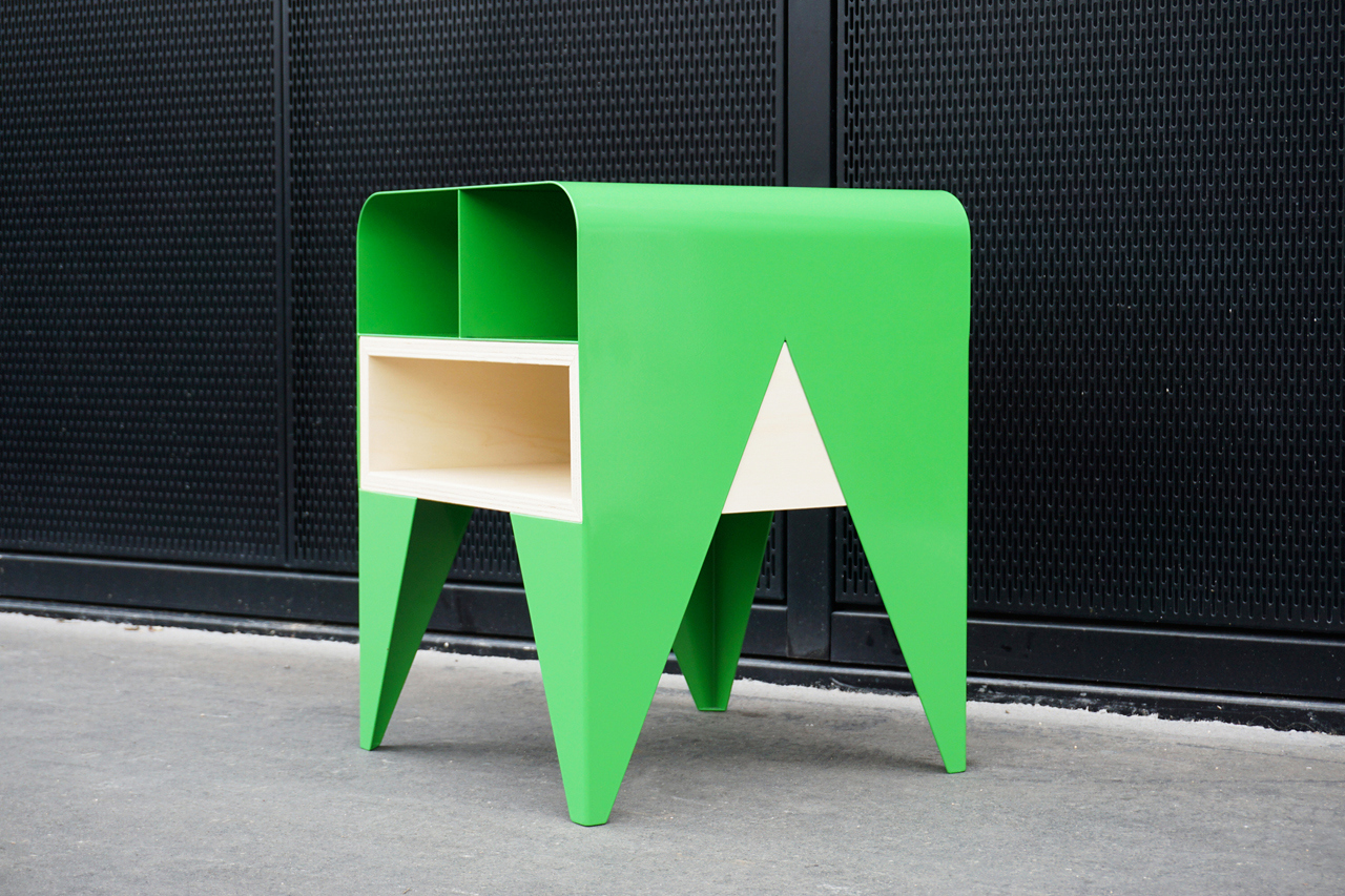Frog: A Side Table with Storage by Nab Design - Design Milk