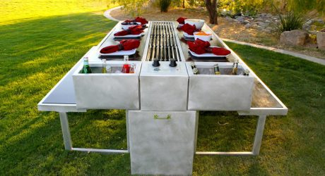 An Outdoor Grill You Can Cook and Eat At