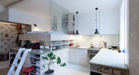 Small Stockholm Apartment Lets Its Past Take The Stage