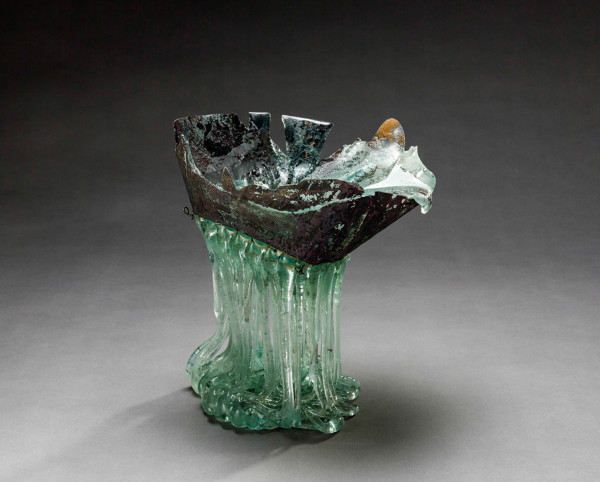 K95109 Drops IV 2014, 27x25x19cm,glass