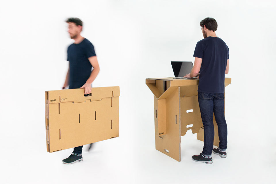A Portable, Flexible and Affordable Cardboard Standing Desk