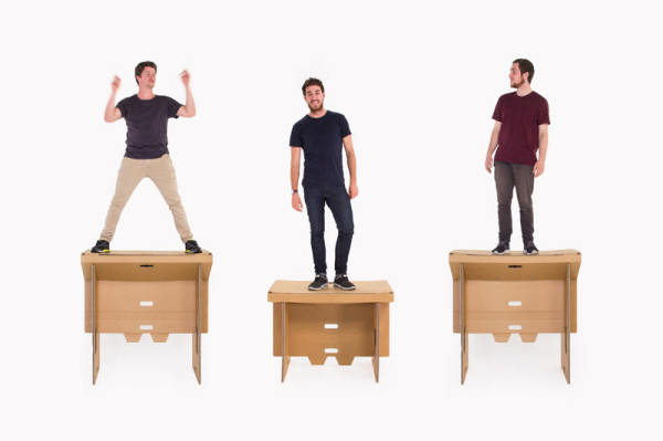 A Portable Flexible and Affordable Cardboard Standing Desk