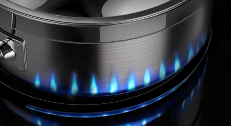 The Samsung Induction Range Projects Virtual LED Flames