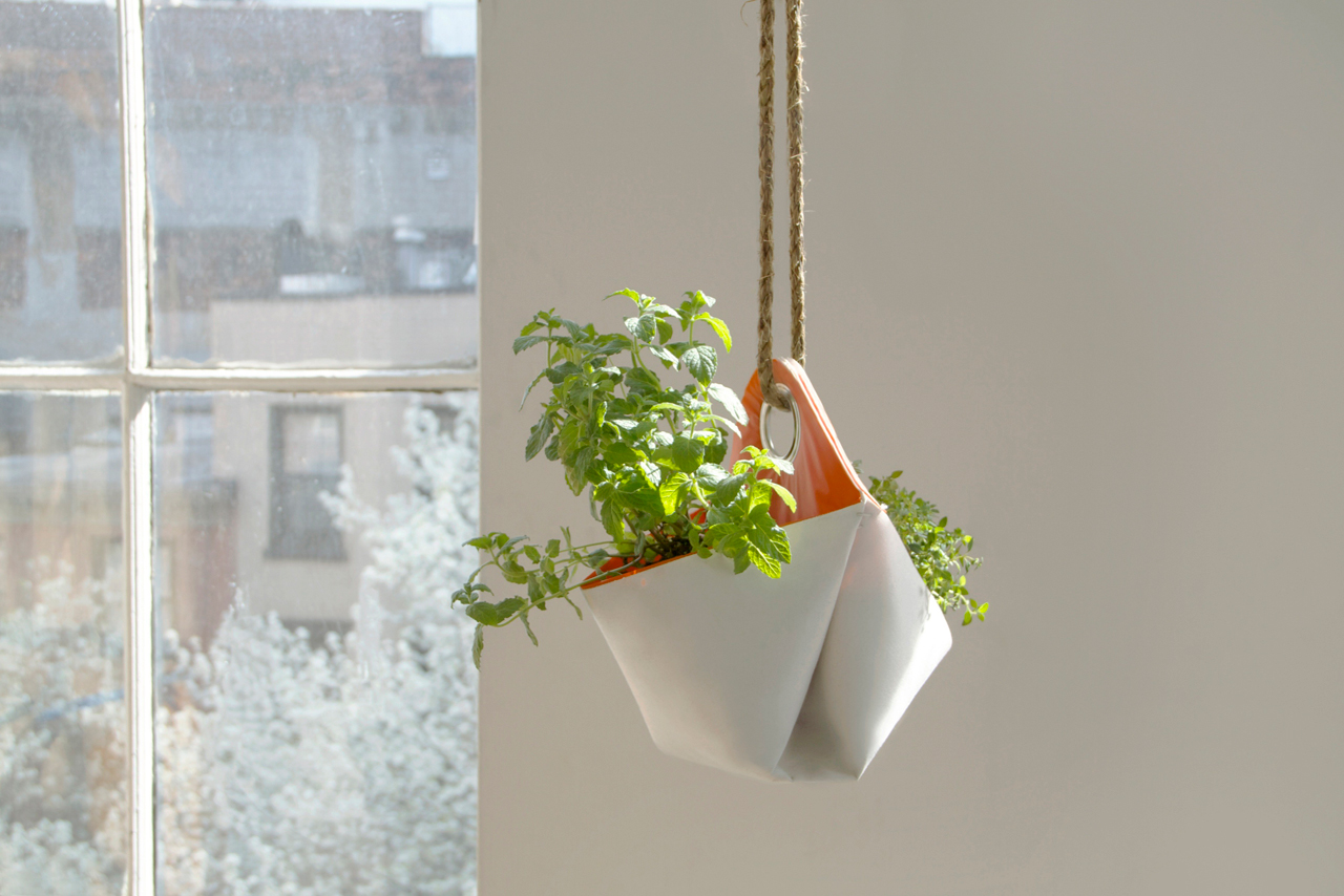 nomad a portable herb planter design milk