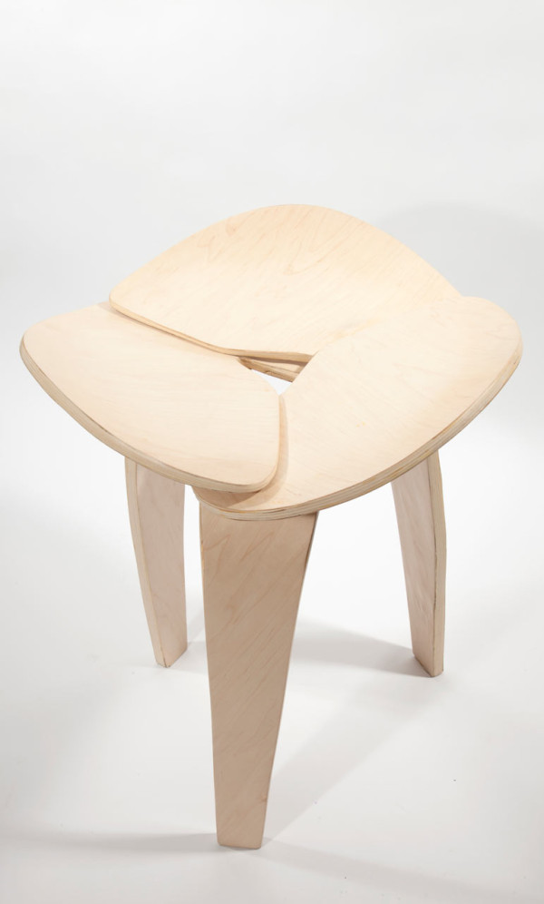 Trio: A Jointless Stool by Andrea Quiros Balma in main home furnishings Category