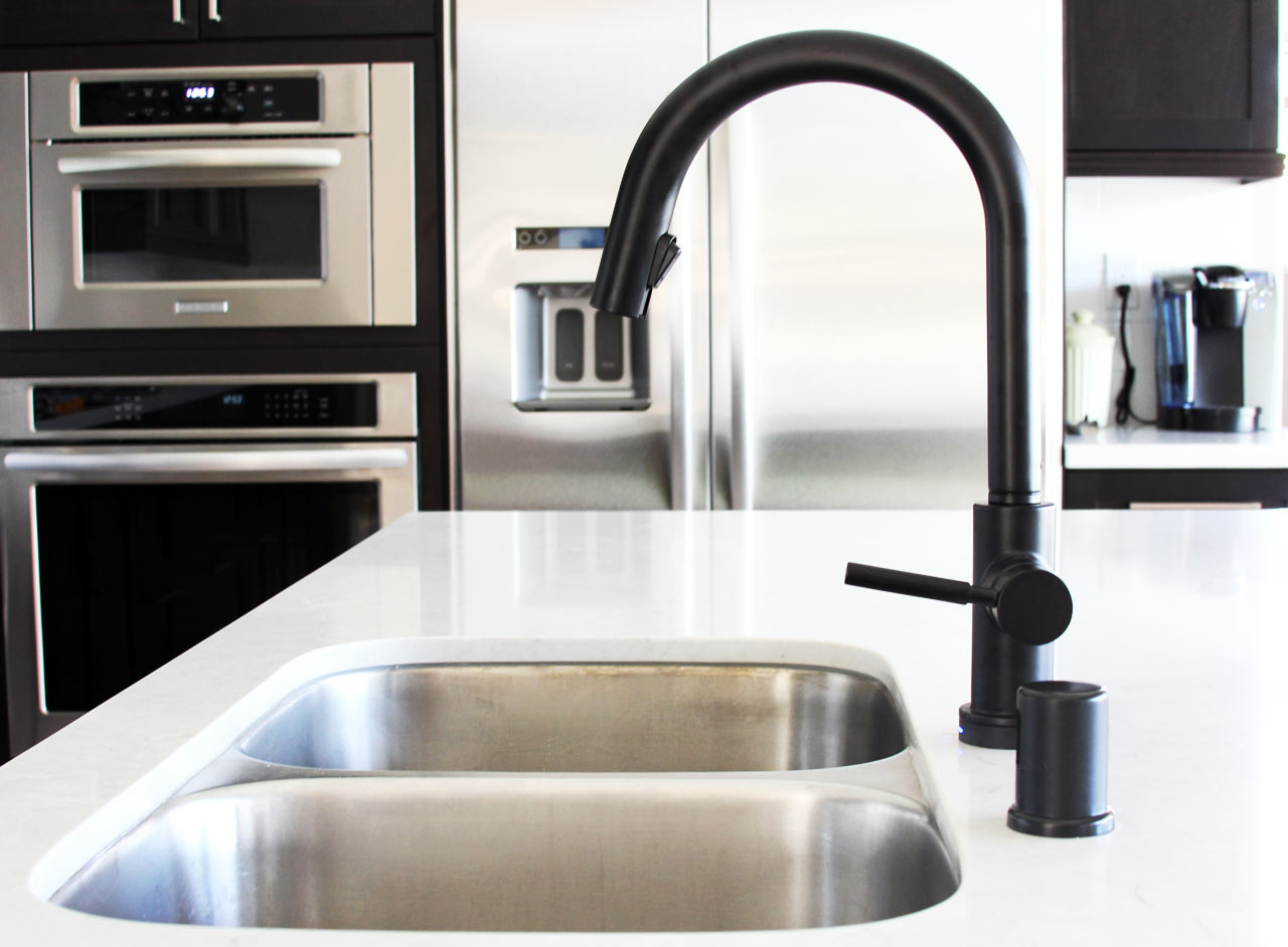 kitchen taps and sinks black is the new black design milk 6229
